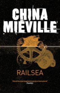 UK cover of Railsea by China Miéville